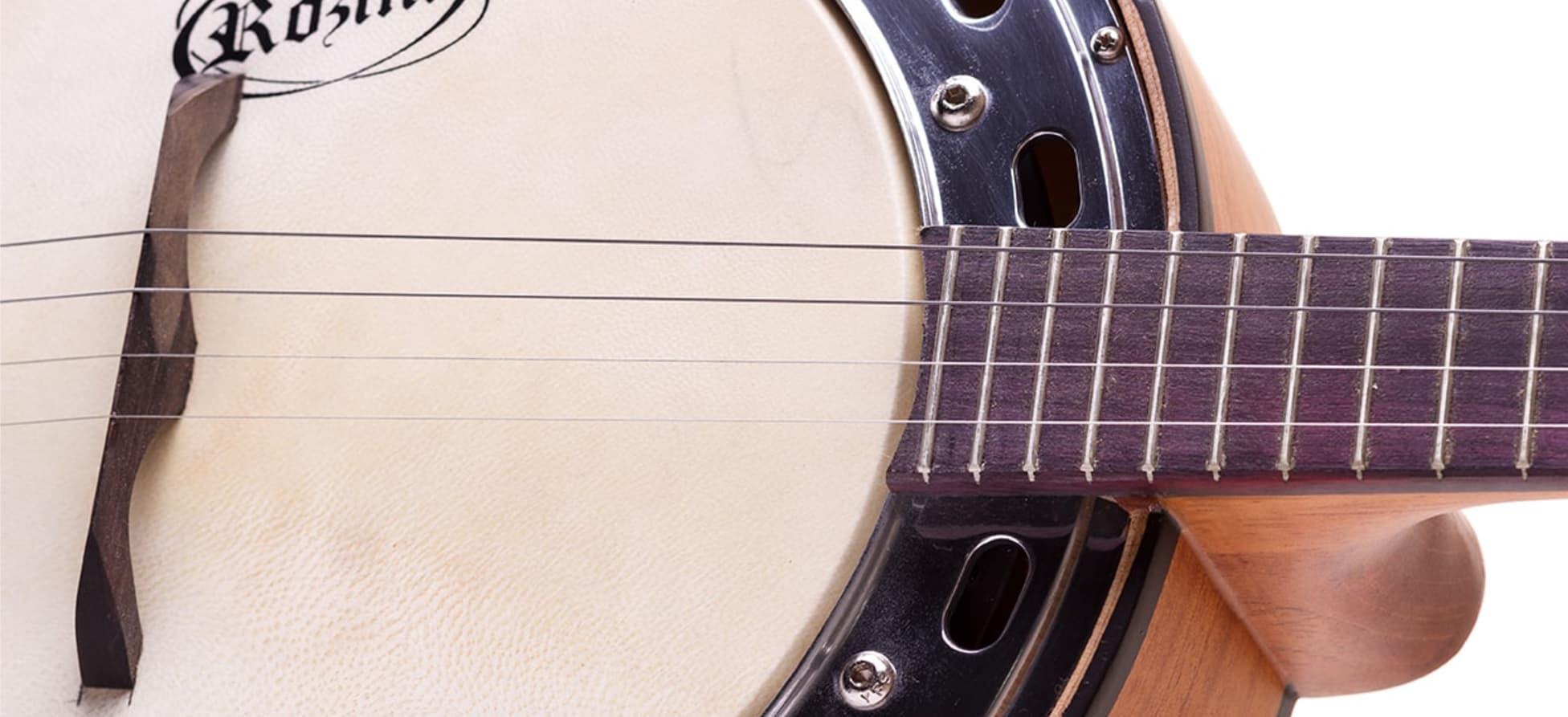 BANJO ESTUDANTE CAIXA LARGA | RJ14.EL.F.M - Banjos Elétricos | Rozini Instrumentos Musicais | 100% Brasileira